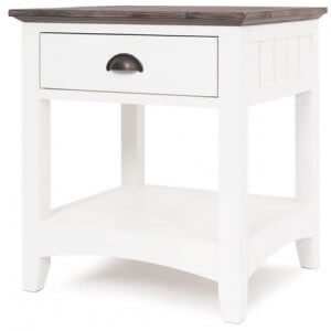 French Traditional 1 Drawer Bedside Table