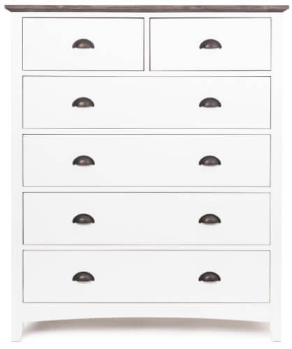 French Traditional 6 Drawer Chest
