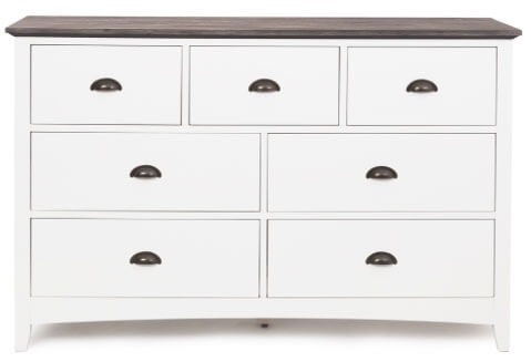 French Traditional 3 over 4 Dresser