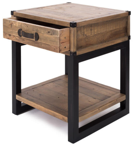 Industrial Lamp Side Table